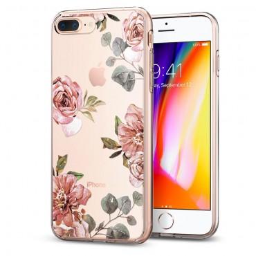 "Obal Spigen ""Liquid Crystal"" pro iPhone 8 Plus / iPhone 7 Plus - akvarelově růžový"