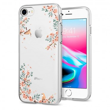"Kryt Spigen ""Liquid Crystal"" pro iPhone 8 / iPhone 7 - blossom nature"