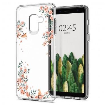 """Obal Spigen """"Liquid Crystal"""" pro Samsung Galaxy A8 2018 - kvetoucí příroda"""