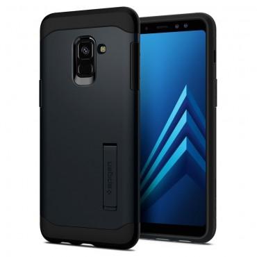 "Obal Spigen ""Slim Armor"" pro Samsung Galaxy A8 2018 - kovově černý"