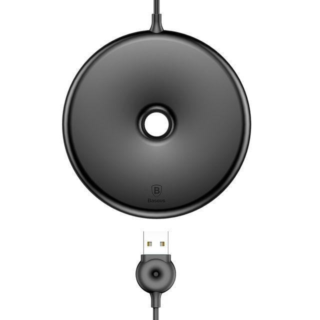 """Nabíjecí stanice Baseus """"Donut"""" pro všechna mobilní zařízení s technologií QI - černá"""