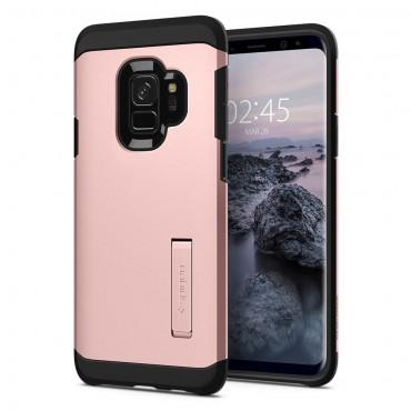 """Obal Spigen """"Tough Armor"""" pro Samsung Galaxy S9 - růžově zlatý"""