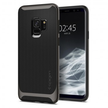 """Obal Spigen """"Neo Hybrid"""" pro Samsung Galaxy S9 - kovově černý"""