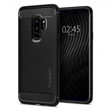 "Kryt Spigen ""Rugged Armor"" pro Samsung Galaxy S9 Plus - black"