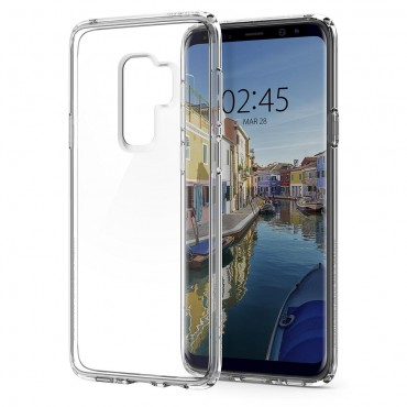 "Kryt Spigen ""Ultra Hybrid"" pro Samsung Galaxy S9 Plus - crystal clear"