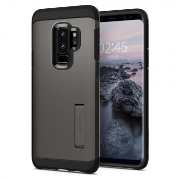 "Kryt Spigen ""Tough Armor"" pro Samsung Galaxy S9 Plus - gunmetal"
