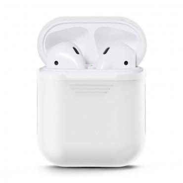 TPU gelový kryt pro sluchátka AirPod - bílý