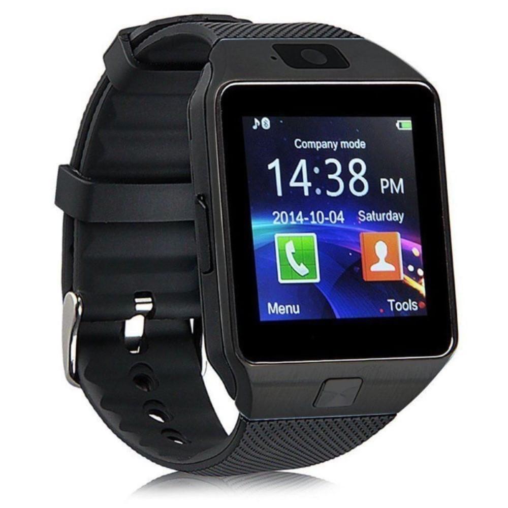"""Chytré Bluetooth a NFC hodinky """"DZ09"""" pro Android a iOS zařízení - černá"""