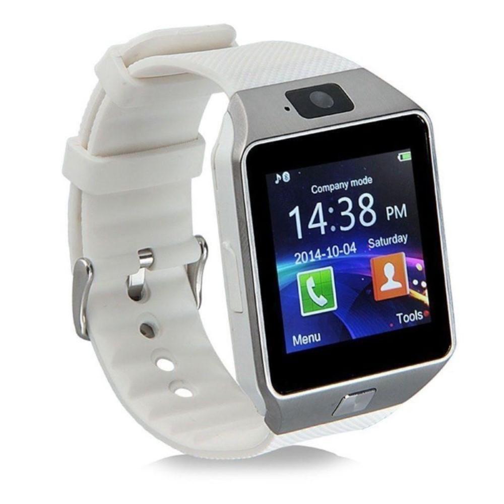 """Chytré bluetooth a NCF hodinky """"DZ09"""" pro zařízení android a iOS – stříbrná"""