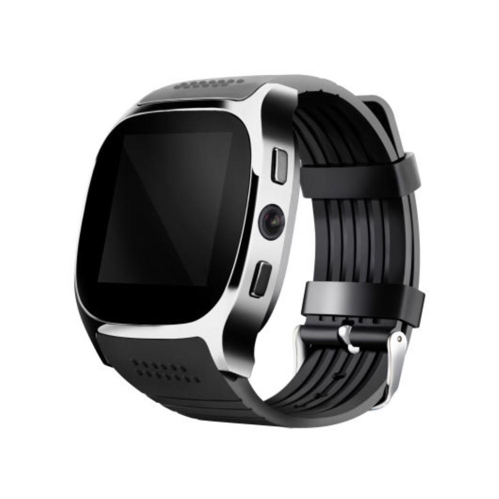 """Chytré Bluetooth a NFC hodinky """"T8"""" pro Android zařízení - černé"""