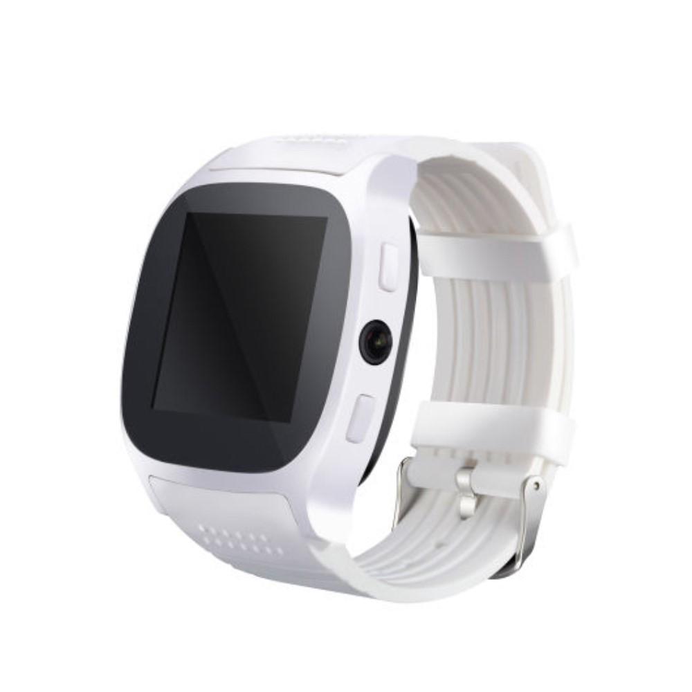 """Chytré Bluetooth a NFC hodinky """"T8"""" pro Android zařízení - bílé"""