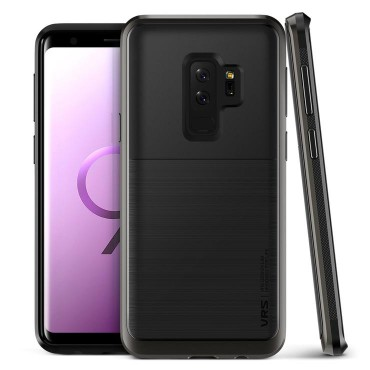 "Kryt VRS Design ""High Pro Shield"" pro Samsung Galaxy S9 Plus - metal black"