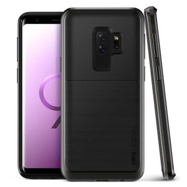 """Obal VRS Design """"High Pro Shield"""" pro Samsung Galaxy S9 Plus - kovově černý"""