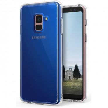 """Kryt Ringke """"Fusion"""" pro Samsung Galaxy A8 Plus 2018 - clear"""