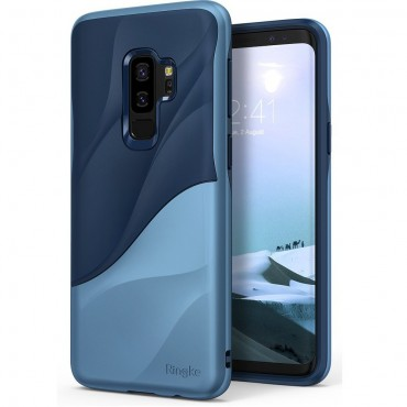 "Kryt Ringke ""Wave"" pro Samsung Galaxy S9 Plus - coastal blue"