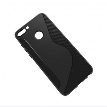 "Kryt TPU gel ""S-Line"" pro Huawei P Smart - černý"
