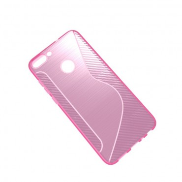 """Kryt TPU gel """"S-Line"""" pro Huawei P Smart - růžový"""