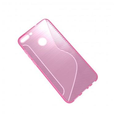 "TPU gelový obal ""S-Line"" Huawei P Smart - růžový"