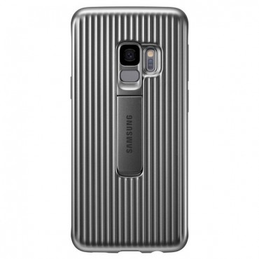 "Originální obal Samsung ""Protective Stand Cover"" pro Samsung Galaxy S9 - stříbrný"