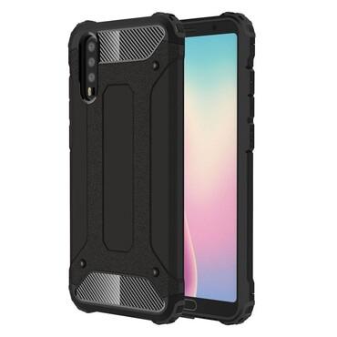 """Robustní obal """"Rock"""" pro Huawei P20 - černý"""