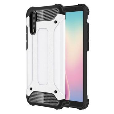 """Robustní obal """"Rock"""" pro Huawei P20 - bílý"""