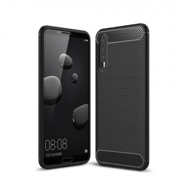 "TPU gelový obal ""Brushed Carbon"" pro Huawei P20 Pro - černý"