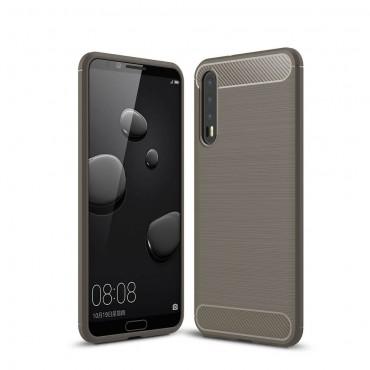 "TPU gelový obal ""Brushed Carbon"" pro Huawei P20 Pro - šedý"