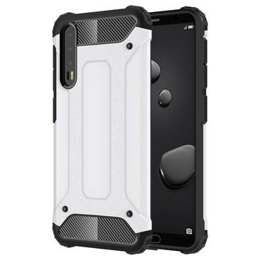 """Robustní obal """"Rock"""" pro Huawei P20 Pro - bílý"""