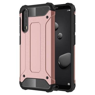 """Robustní kryt """"Rock"""" pro Huawei P20 Pro - růžový"""