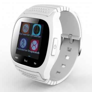 """Chytré bluetooth a NCF hodinky """"M26"""" pro zařízení android – bílá"""