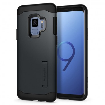 "Obal Spigen ""Slim Armor"" pro Samsung Galaxy S9 - kovově černý"