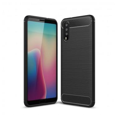 """Kryt TPU gel """"Brushed Carbon"""" pro Huawei P20 - černý"""