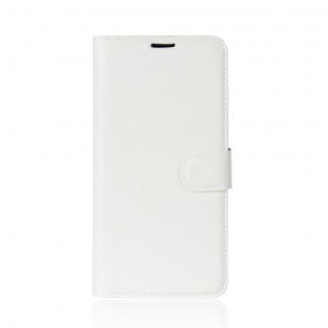 """Elegantní kryt z umělé kůže """"Litchi"""" pro Huawei P20 - bílý"""