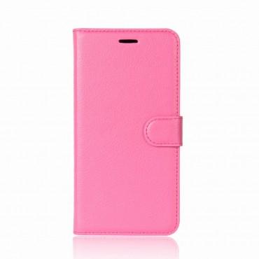"""Elegantní pouzdro """"Litchi"""" pro Huawei P20 z umělé kůže - růžové"""