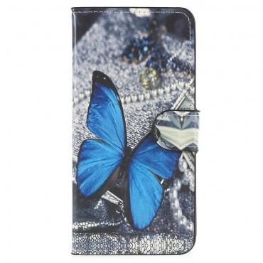 """Módní pouzdro """"Blue Butterfly"""" pro Huawei P20"""