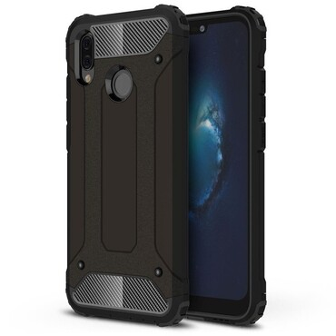 """Robustní obal """"Rock"""" pro Huawei P20 Lite - černý"""