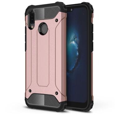 """Robustní obal """"Rock"""" pro Huawei P20 Lite - růžový"""