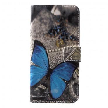 """Módní pouzdro """"Blue Butterfly"""" pro Huawei P20 Lite"""