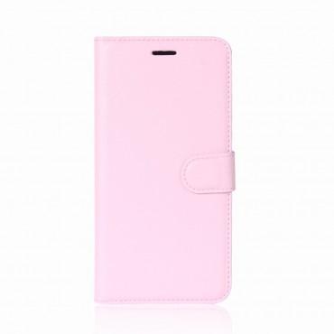 """Elegantní pouzdro """"Litchi"""" pro Huawei P20 Pro z umělé kůže - růžové"""