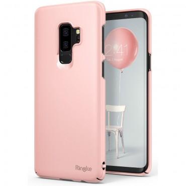 "Kryt Ringke ""Slim"" pro Samsung Galaxy S9 Plus - peach pink"