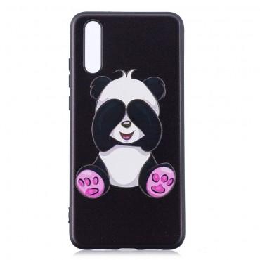 "Kryt TPU gel ""See No Panda"" pro Huawei P20 - černý"