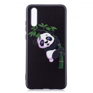 "Kryt TPU gel ""Climbing Panda"" pro Huawei P20 - černý"
