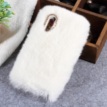 """Módní kryt """"Fluffy"""" pro Huawei P20 - bílý"""
