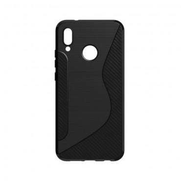 "Kryt TPU gel ""S-Line"" pro Huawei P20 Lite - černý"