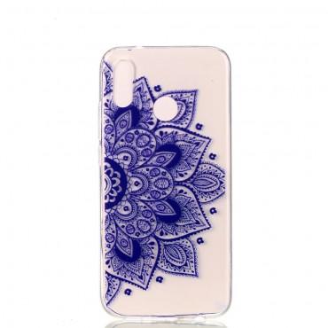 "TPU gelový obal ""Purple Geo"" pro Huawei P20 Lite"