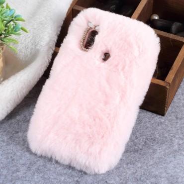 """Módní obal """"Fluffy"""" pro Huawei P20 Lite - růžový"""