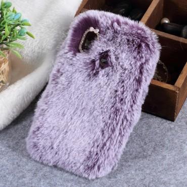 """Módní kryt """"Fluffy"""" pro Huawei P20 Lite - fialový"""