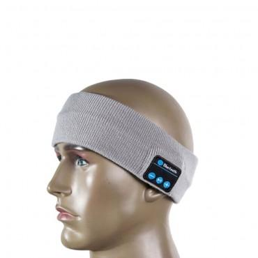 Sportovní Bluetooth čelenka - šedá