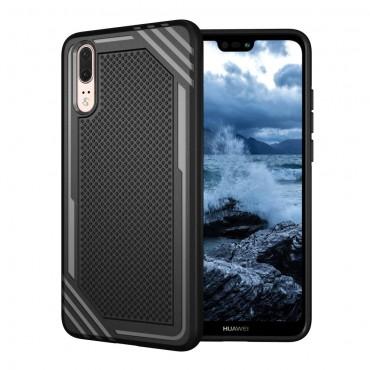 """TPU gelový obal """"Texture"""" pro Huawei P20 - černý"""