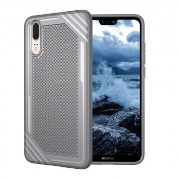 """Kryt TPU gel """"Texture"""" pro Huawei P20 - šedý"""